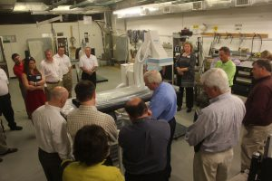 Mark Ray, Director of Engineering and Service, demonstrates the functionality of the e-View