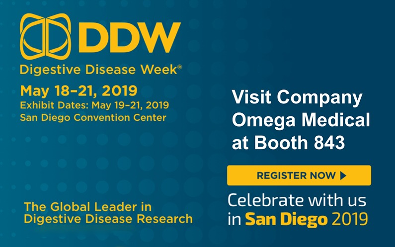 Omega Medical Imaging to Revolutionize Patient Safety Standards at DDW 2019