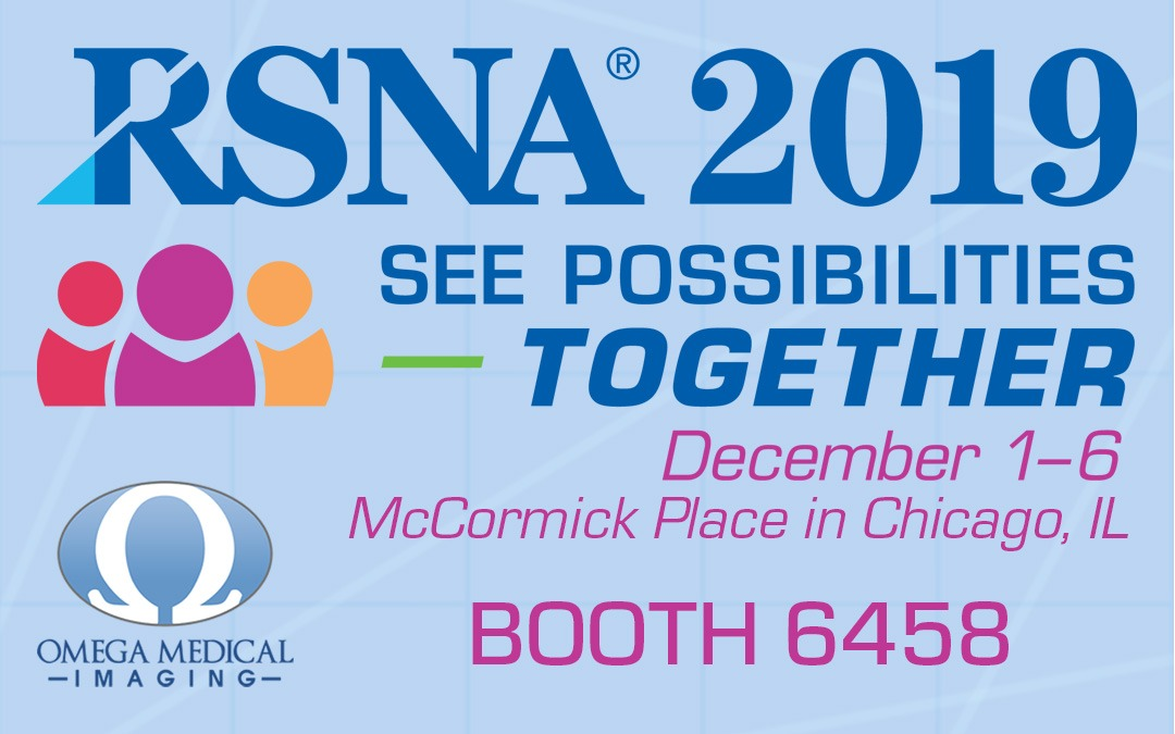 Omega Medical Imaging to showcase First Artificial Intelligence Imaging System to Reduce Dose at RSNA 2019